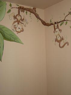 Whimsical Jungle Animal Nursery Mural