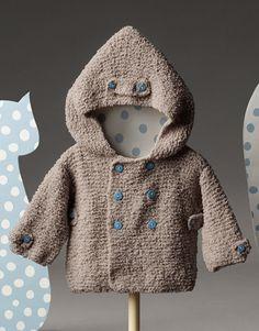 5 hour baby sweater - this fre Baby Knitting Patterns, Baby Patterns, Crochet For Boys, Knitting For Kids, Baby Kind, My Baby Girl, Newborn Crochet, Crochet Baby, Catalogue Katia