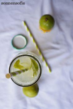 selbstgemachte Limetten Limonade