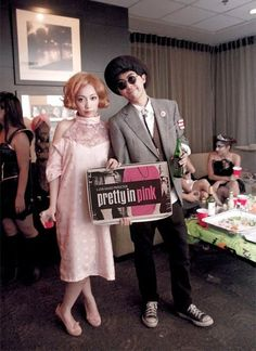 hahahahaha omg andie and duckie from pretty in pink. THIS IS PERFECT.