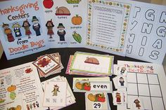 Cute Thanksgiving Educational Activities (Kindergarten, 1st & 2nd Grades)