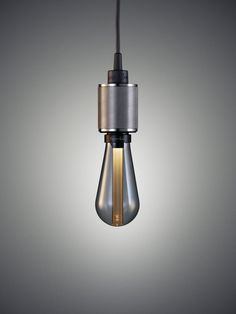 LED Smoked Grey Buster Bulb with Steel Pendant, Buster + Punch