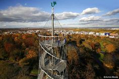 Killesbergturm Stuttgart Germany. Climbed this with my sister and the big sister!