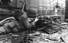 1944  US soldier of the 104th Infantry Division, Normandy, France