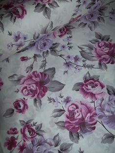 Fialové růže š.240cm 100% jemná bavlna