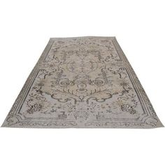 Beige Vintage Turkish Oushak Rug - 5′11″ × 9′5″ ($739) ❤ liked on Polyvore featuring home, rugs, cream colored rugs, cream rug, ivory rug, cream colored area rugs and off white rug