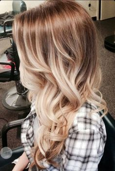 Brown hair blonde balayage ombre face framing hair color