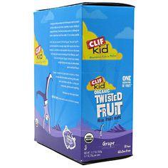 Kid Organic Twisted Fruit, Grape 18 - 0.7 oz (20g) Pieces [12.7 oz (360g)]; Clif Bar, Snacks / Foods #bodybuilding #sport #sportsnutrition #gym #snacks #foods https://monsternbeast.com/shop/kid-organic-twisted-fruit-grape-18-0-7-oz-20g-pieces-12-7-oz-360g-clif-bar-snacks-foods/