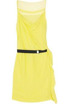 Diane von Furstenberg|Kairi silk-chiffon and crepe dress|NET-A-PORTER.COM - StyleSays