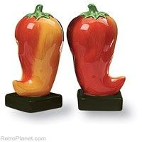 Chili Peppers Salt and Pepper Shakers  http://www.retroplanet.com/PROD/30572