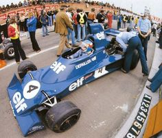 Patrick André Eugène Joseph Depailler (FRA) (Elf Team Tyrrell), Tyrrell 007 - Ford-Cosworth DFV 3.0 V8 (finished 4th) 1975 Belgian Grand Prix, Circuit Zolder