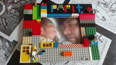 porta retrato para papá decorado con legos  #lego #ideasparaniños #regaloparapapa #ideasdivertidas #ideasparaniños