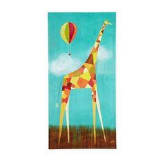 Kids Art Prints: Melanie Mikecz Too Tall Giraffe in Canvas Wall Art