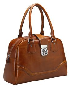 brown retro handbag for women leather business bag-leather womens Briefcase