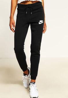 Nike Sportswear RALLY - Trainingsbroek - black/antique silver/white - Zalando.nl