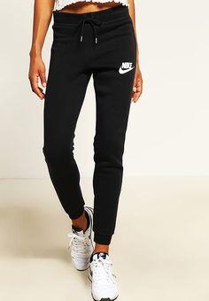 Nike Sportswear RALLY - Pantalón de deporte - black/antique silver/white - Zalando.es