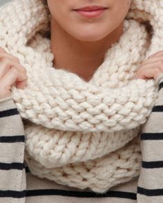 Cozy, chunky knit snood