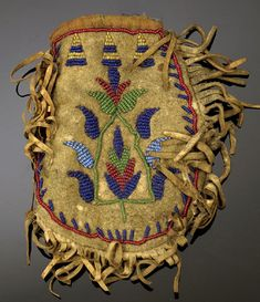 Sioux Beaded Hide Pouch,                                                                                                                                                                                 More