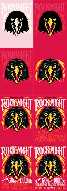 Rock Night Poster by Ian Jepson, via Behance