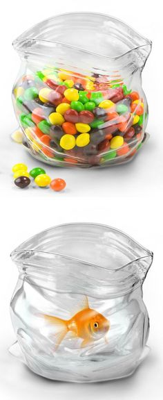 Glass Candy Ziploc Bowl