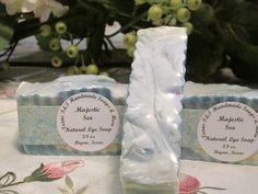 Texas T&T Home Made Cold Process Lye Soap Mystic Sea Lye Soap 3.9 oz   #TEXASTANDTHANDMADESOAPS