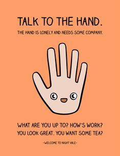 Talk to the Hand by Blique