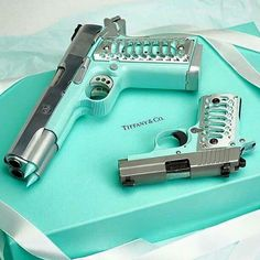 Sig P238 and Double barrel 1911 in Tiffany Blue | Tag your ladies | Hand Guns, Pistols, Handgun, Revolver