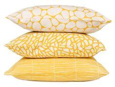 Yellow Barr, Delta and Stenar cushions from Gyllstad.com