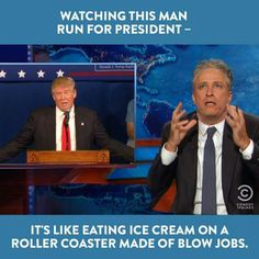 Jon Stewart delighted with Trump's campaign