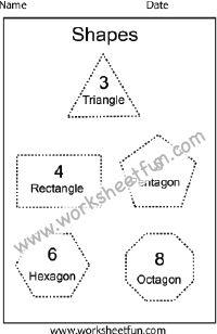 Shapes – 1 Worksheet | Kindergarten Worksheets | Pinterest ...