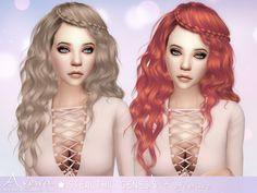 Sims 4 Hairs ~ Aveira Sims Stealthic`s Genesis hair retextured Sims 4 Hair Male, Sims Hair, The Sims 4 Packs, Sims Cc, Long Hair Styles, Disney Princess, Female Hair, Ts4 Cc, Mesh