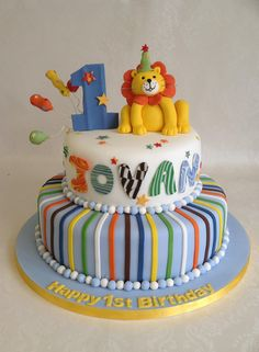 A cake based on the 'Sweet at 1' partyware for Jovan's birthday