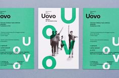 Flier for Uovo Performing Art Festival by Atto. #editorialdesign #layoutinspiration #typography