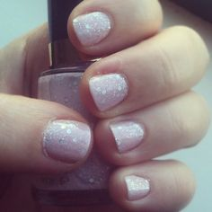 """Revlon's """"Popular"""" --milky pink with multi-sized silver glitter mixed in for a more muted sparkle.  [Photo by baadumching • Instagram]"""