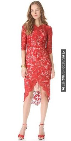 Awesome! - Lover Horizon Lace Dress | CHECK OUT MORE GREAT RED WEDDING IDEAS AT WEDDINGPINS.NET | #weddings #wedding #red #redwedding #thecolorred #events #forweddings #ilovered #purple #fire #bright #hot #love #romance #valentines