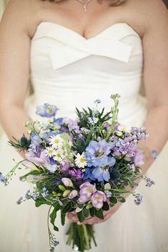 country cottage bridal bouquet