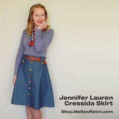 Jennifer Lauren Cressida Skirt PDF Sewing Pattern