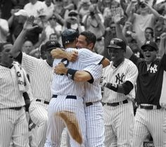 One of my favorite yankee pictures of all time Celebrating Derek Jeters 3000 hit!