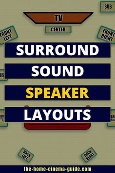 Home theaters layout Setting Up Surround Sound: Speaker Location And Layout - Home Cinema Guide: Making Home Theater Technology Easy - Home Theater Setup, Home Theater Speakers, Home Theater Design, Surround Sound Speakers, Surround Sound Systems, Best Speakers, Guide, Need To Know, Cinema