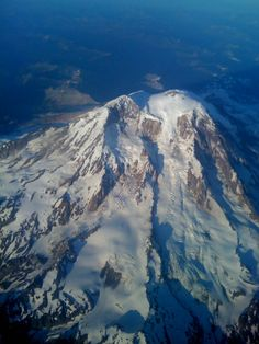 Flying out of Seatac at Seattle over Mt. Rainier