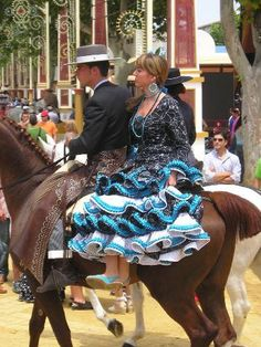 Traditional riders at Jerez's Feria del Caballos    Spain  Saw this fair in person what a wonderful sight
