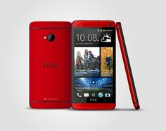 #HTC One comes out with a #red #smartphone in #July. Pretty cool. :D