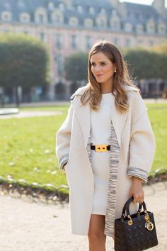 M Missoni Coat c/o (also similar here and less expensive version here), ASOS Dress, Thakoon Addition Oxfords, Dior Earrings (similar here), Marni Belt (no longer available, similar here and here), Dio