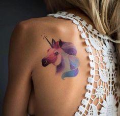Znalezione obrazy dla zapytania tatuaż jednorożec