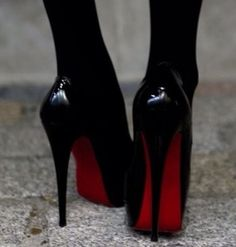 Black and red heels