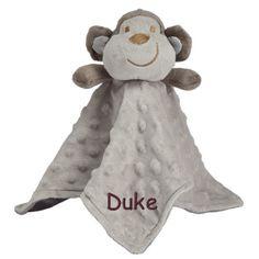 PersonalizeMyBabyBlanket.com - Elegant Baby Minky Dot Gray Monkey Baby Lovie Security Blanket Blankie - Personalized Embroidery, $23.99 (http://personalizemybabyblanket.com/elegant-baby-minky-dot-gray-monkey-baby-lovie-security-blanket-blankie-personalized-embroidery/)
