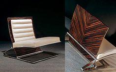 A Rare Definitive Collection Of Designer Macassar Ebony Furniture.