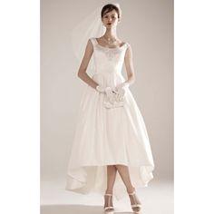 [ $130.69 ]Nobel Off-the-Shoulder Hi-Lo Gown With Embellishments