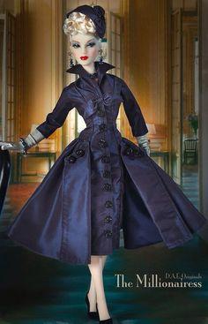 Vintage Couture bleu-marine *.