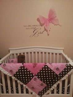 Baby Girl Butterfly Bedroom Ideas love this set!!! walmart love the brown and pink together